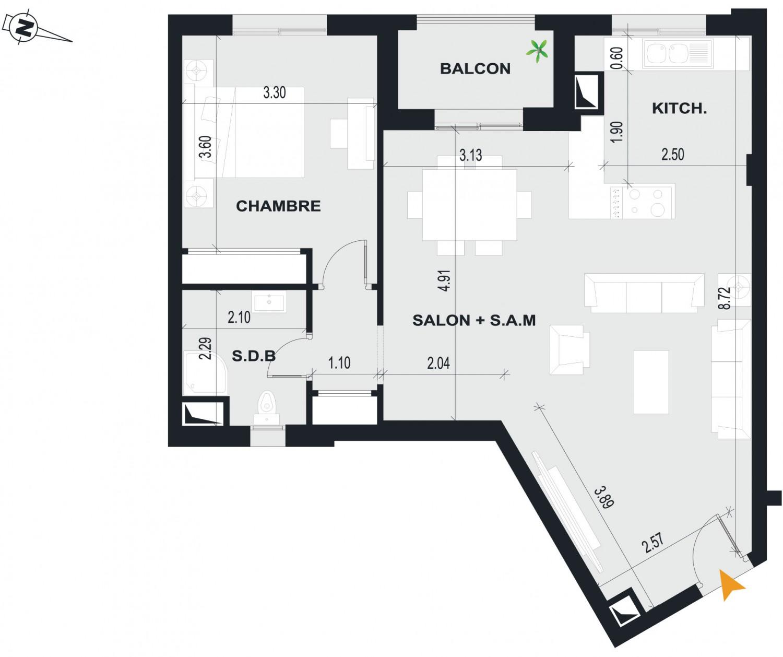 Vente appartement A R-1 du Bloc A de la résidence haut standing ...